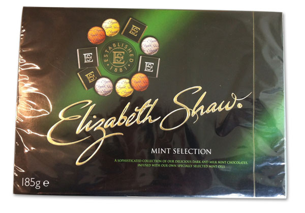 Confectionery box packaging